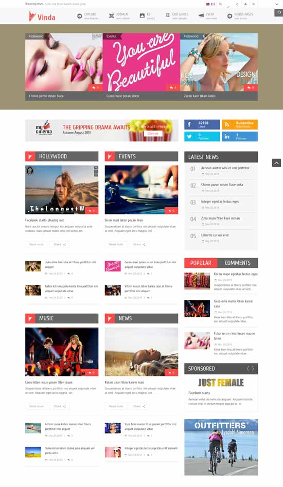 Joomla-Entertainment-Template