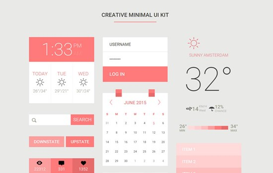 creative-minimal-ui-kit