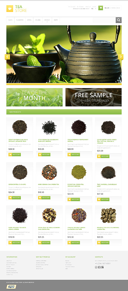 e-Commerce-Theme-Green