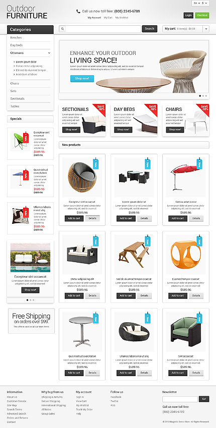 Free e-Commerce-Themes