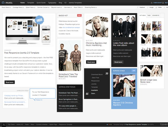 music-joomla-template