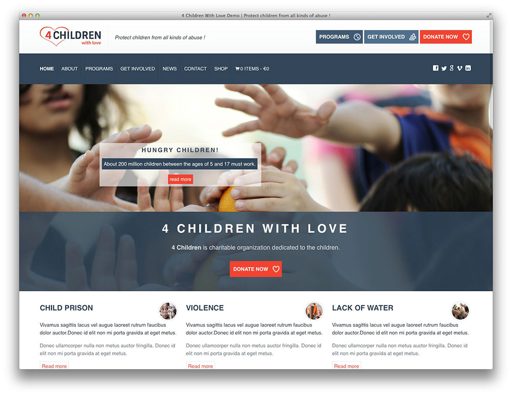 4-children-wordpress-theme