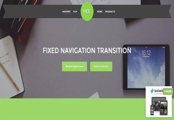 Fixed-Navigation-JQuery-Menu