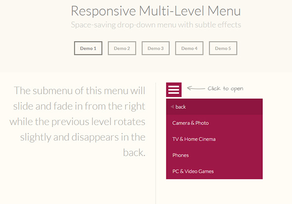 Responsive-Multi-Level-Navigation