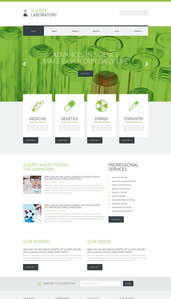 Science-Responsive-Theme