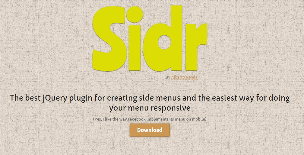Sidr-JQuery-Navigation