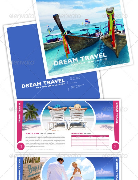 12page Tourist Brochure Templates
