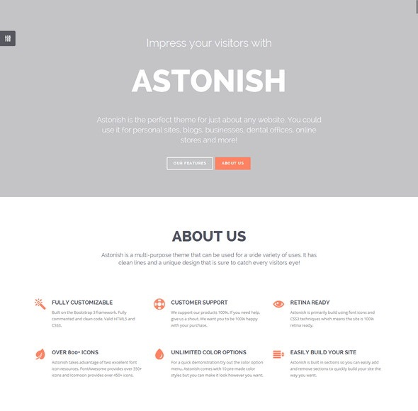 Astonish Onepage HTML5 Template