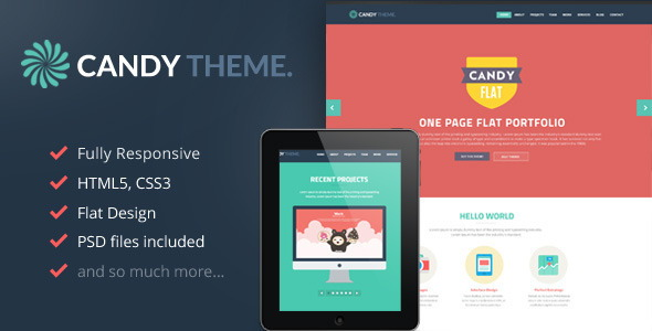 Candy Onepage HTML5 Template