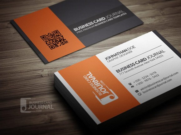 60 best free psd business card templates 2017 contrasting modern business card template flashek Choice Image