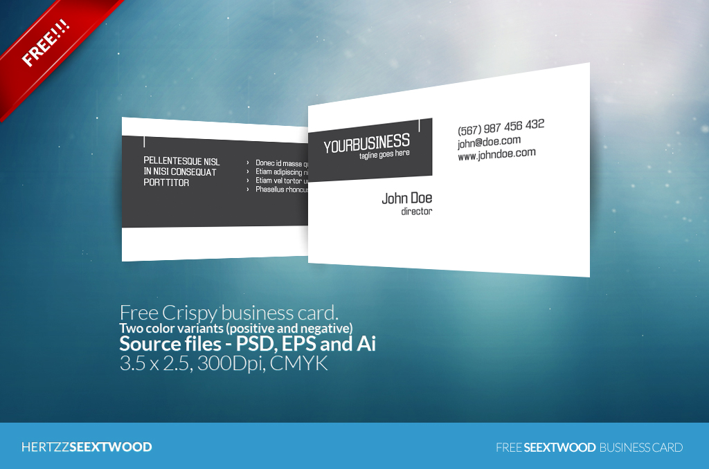 Crispy PSD business card template