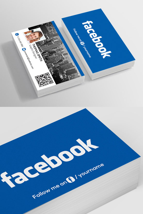 Facebook-Business-PSD business card template