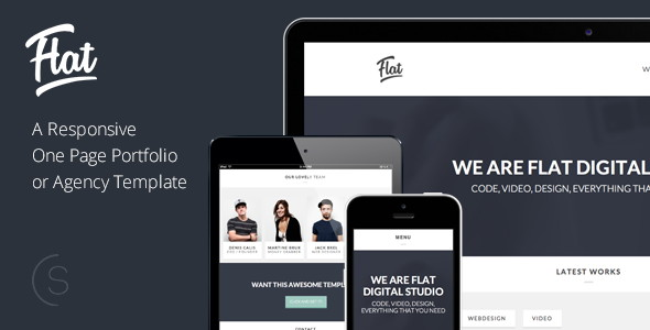 25 Flat Onepage Responsive HTML5 Templates