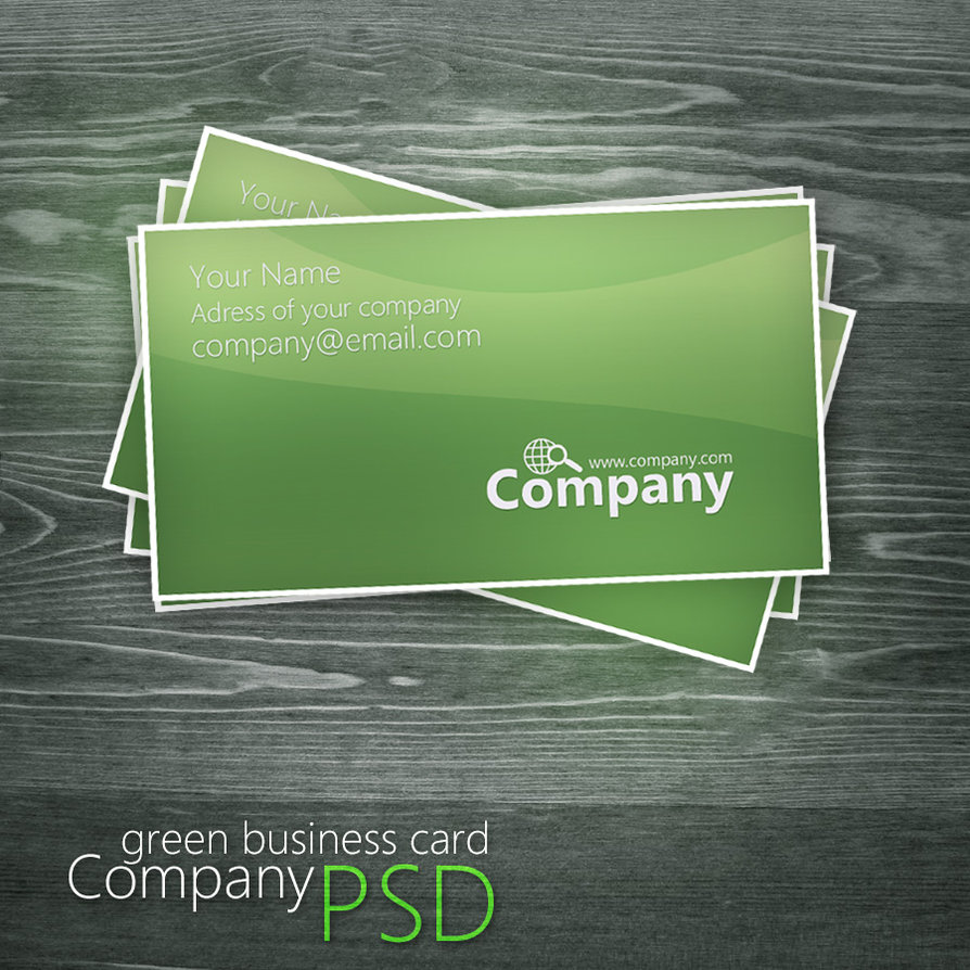Green-PSD-business-card-template