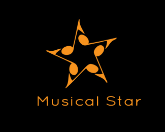 Musical-Star-Logo-Ideas