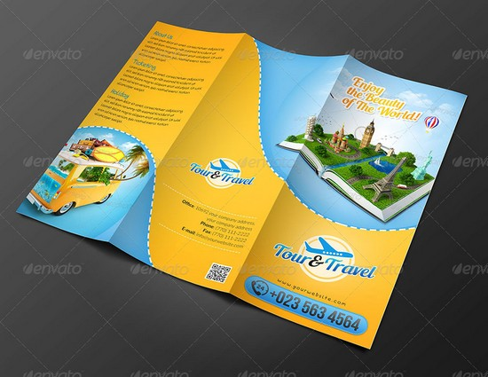 Travel and Tourist Brochure Templates
