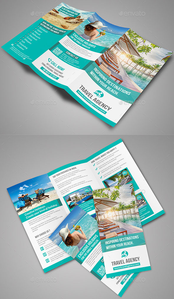 Vacation Brochure Template Hawaii Travel Vacation Powerpoint