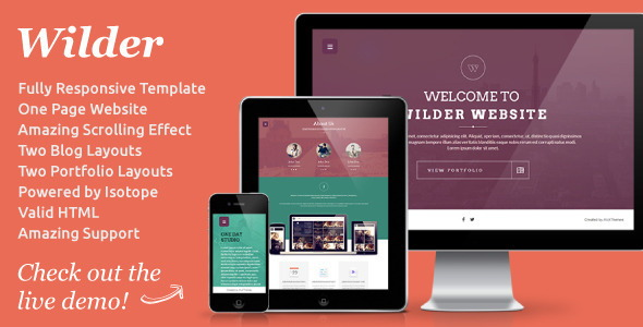 Wilder Responsive HTML5 Template