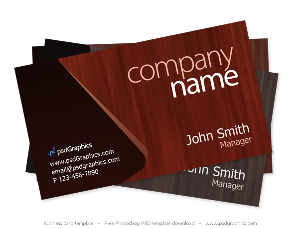 Wooden-PSD-theme-business-card-template