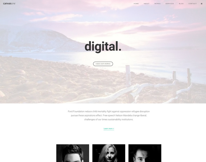 canvas2 Onepage HTML5 Template