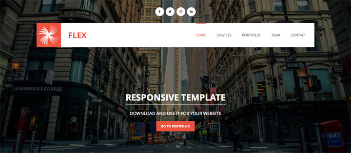 flex-onepage-Responsive-HTML5-Template