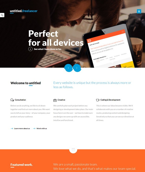 freelancer-Responsive HTML5 Template
