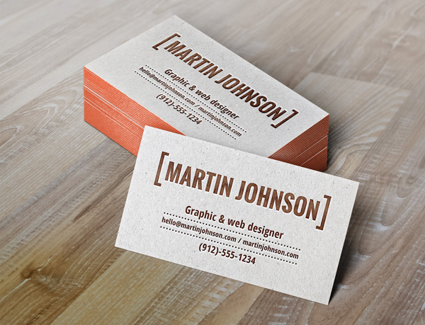letterpress-PSD-business-card-template