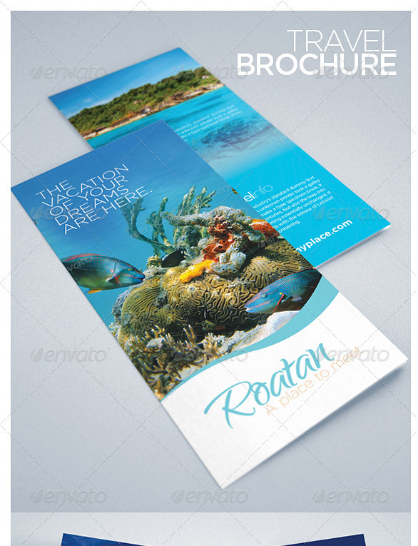 30 best travel and tourist brochure templates for Travel brochure design templates