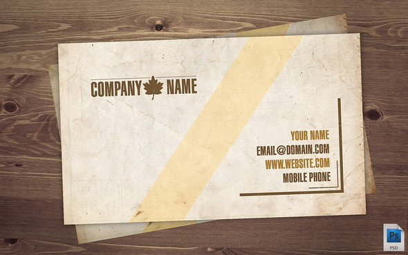 vintage-PSD-business-card
