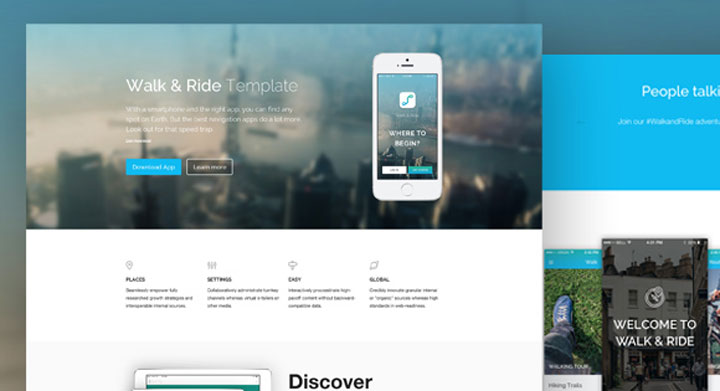walk ride Responsive HTML5 Template