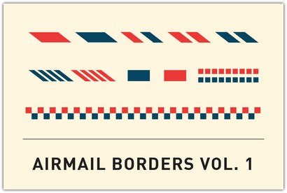 Airmail Borders Template