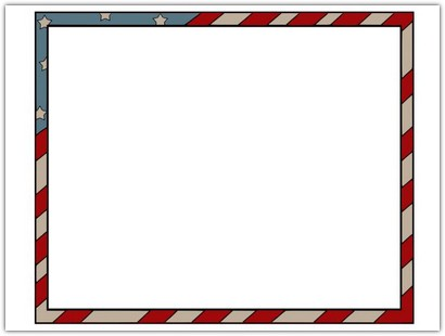 American Border Frame Template
