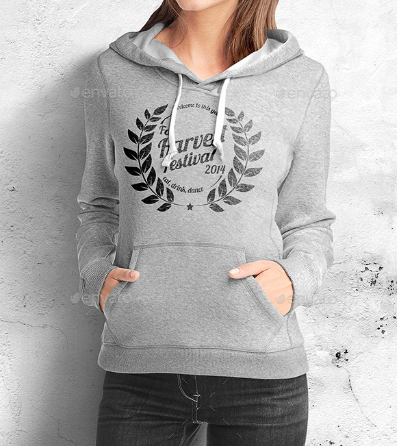 Best Women Hoodie Mock up