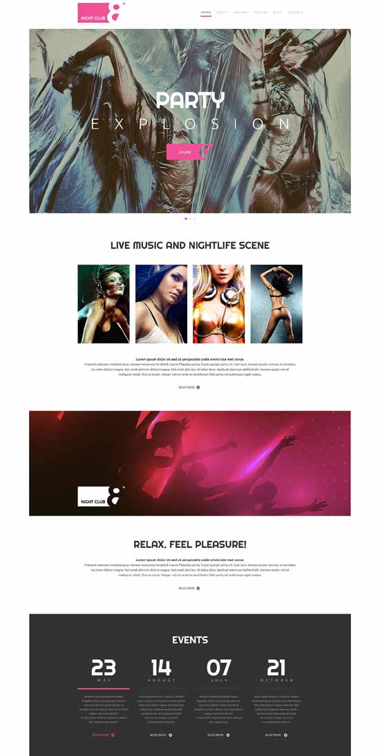 Beauti-Night Club WordPress Theme