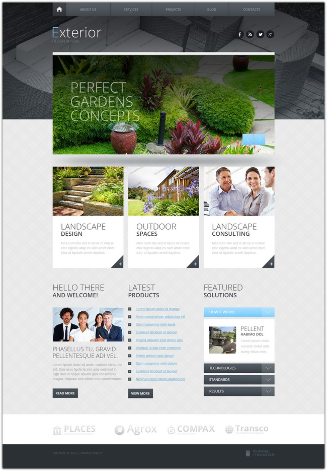 25 best exterior design website templates