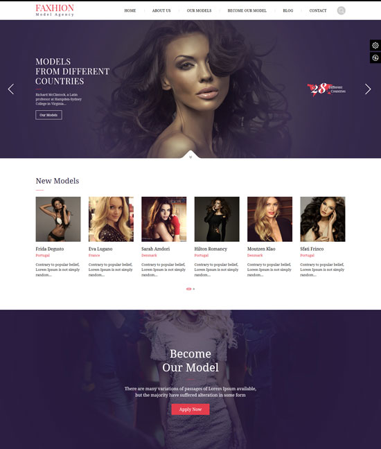 Best-Fashion model agency theme