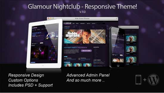 Best-Glamour Nightclub WordPress hd