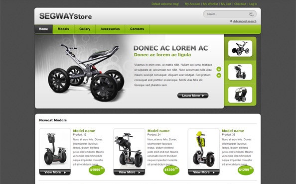 Free-ecommerce website templates