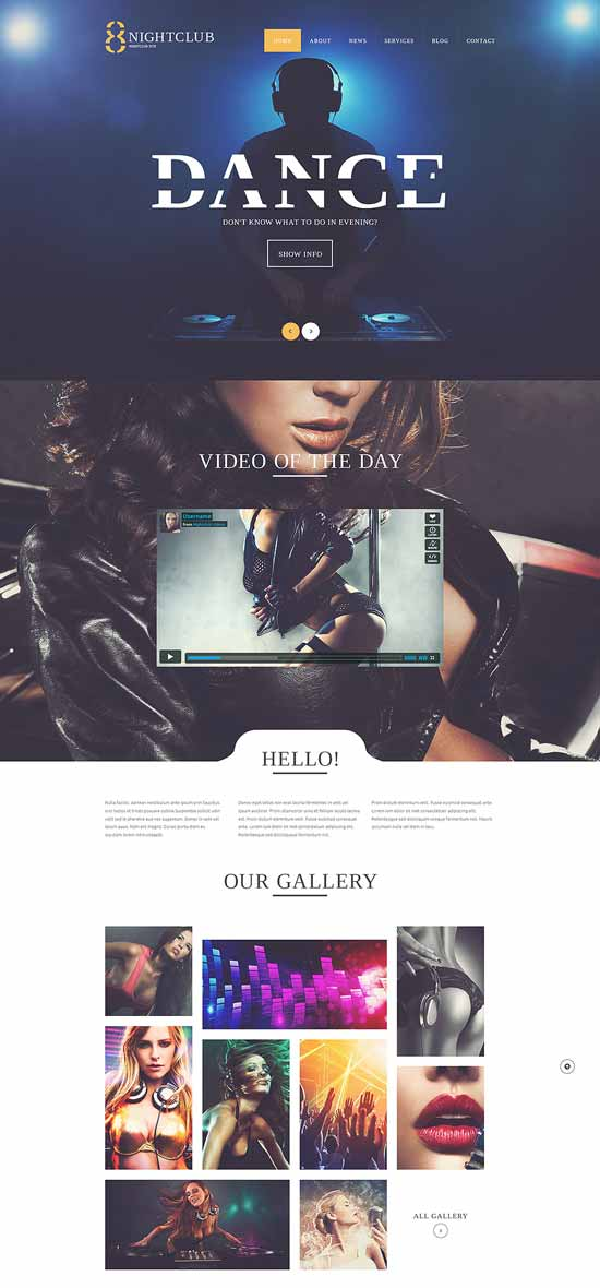 Fun-club WordPress Theme