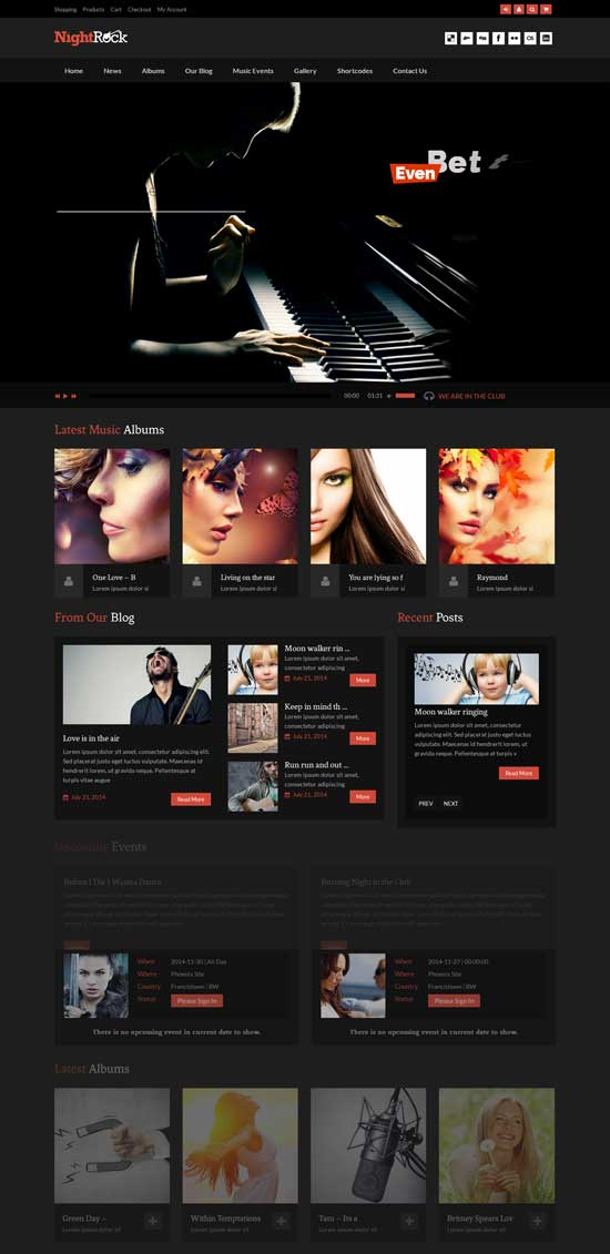 HD-Rock Music WordPress Theme