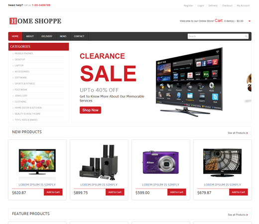 Home shopping web