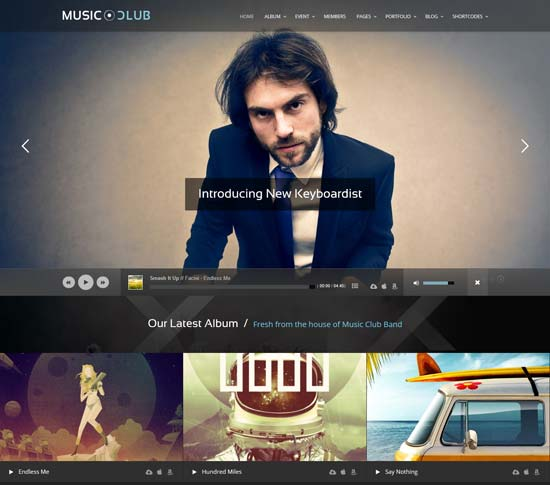 LOud night club wordpress-