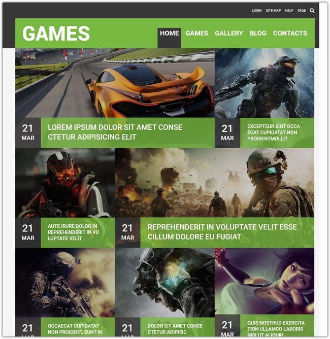 New Game Responsive Template