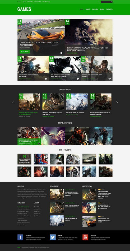 New Games WordPress Theme