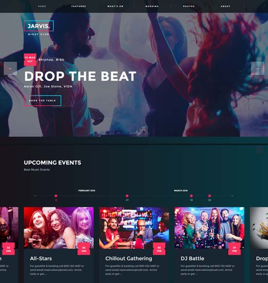 -WordPress jarvis night club
