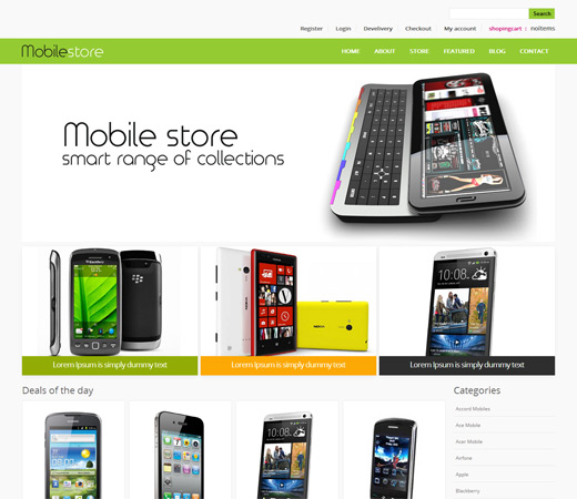 mobile store website