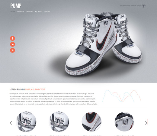 pump website templates