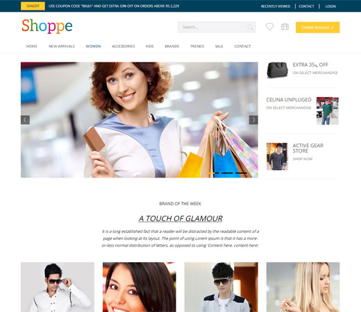shoppe website templates