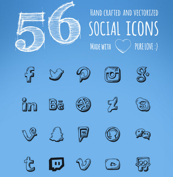 Best-Free-handdrawn-social-icons-bg