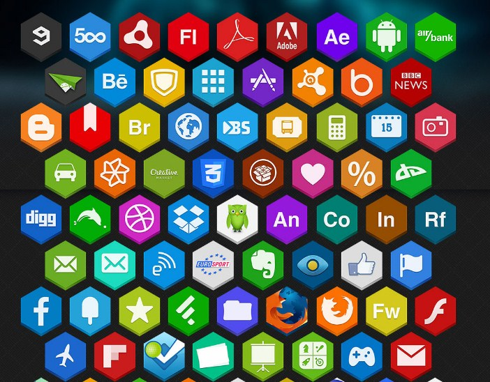 Hex-Social-Icons